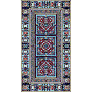 Trojica - The hand woven rural area rug