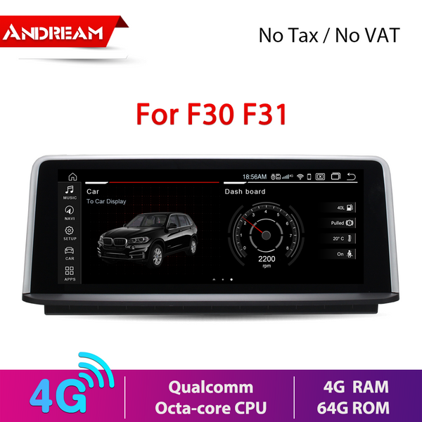 "10.25"" Android 9.0 4G+64G Qualcomm Octa-core built-in 4G-LTE IPS Car MultiMedia for BMW Series3 F30 F31 F34 Series4 F32 F33 F36 GPS navigation Car DVD"