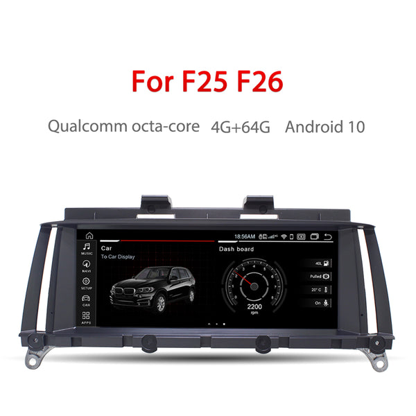 "Andream 8.8"" Android 10 4+64G Qualcomm octa-core 4G+64G IPS Car Interface MultiMedia for BMW X3 F25 X4 F26 CIC GPS navigation Head unit"