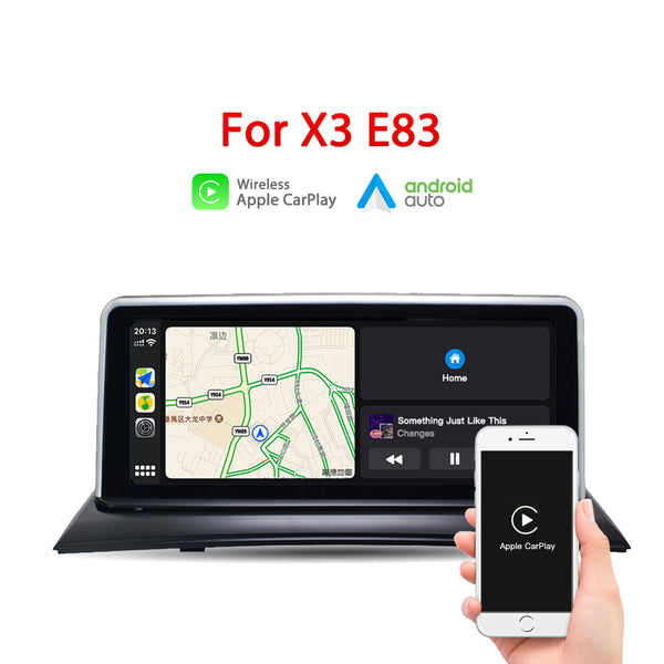 "Andream 10.25"" wireless Apple CarPlay + Android auto  for BMW X3 E83 2003-2010 multimedia Head unit"