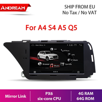 "7"" Android 9.0 PX6 six-core 4G+64G Car Multimedia for AUDI A4 S4 A5 Q5 (2008 2009 2010 2011 2012 2013 2014 2015 2016 B8) gps navigation Head unit"