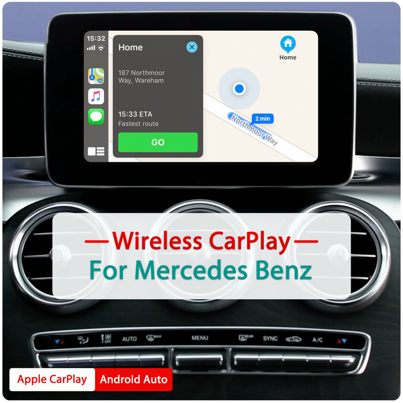 Wireless Apple CarPlay Android Auto MMI Interface Adapter Prime Retrofit For Mercedes Benz NTG 4.5 4.7 4.8 5.0