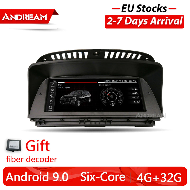 "8.8"" Android 9.0 4G+32G PX6 built-in Audio fiber decoder IPS Car Interface MultiMedia for BMW Series 7 2002-2008 E65 E66 GPS navigation Head unit"