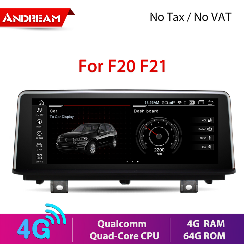 "8.8"" Android 10.0 4G+64G Qualcomm Octa-Core built-in 4G-LTE IPS Car Interface MultiMedia for BMW Series 1 2 F20 F21 2013-2017 GPS navigation Head unit"