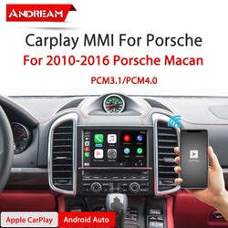 Wireless Apple CarPlay Android Auto MMI Interface Adapter Prime Retrofit For 2010-2016 Porsche Macan PCM3.1 PCM4.0