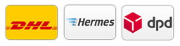 Versandpartner DHL Hermes DPD