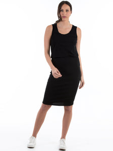 Sophia Bodycon Feeding Dress - Black