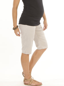 Light Gray Cotton Shorts - Angel Maternity