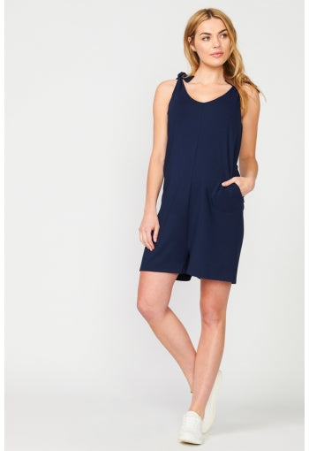 Harlow Playsuit Navy - Pea in a Pod