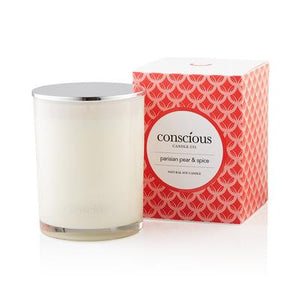 Parisian Pear & Spice 270ml Luxury Scented Soy Candle - Conscious Candle Co.
