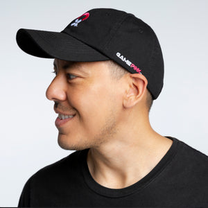 Game Pink Adjustable Ball Cap - Black