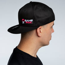 Load image into Gallery viewer, Game Pink Flat Bill Snapback Cap - Small Logo