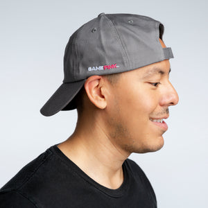 Game Pink Adjustable Ball Cap - Charcoal Gray