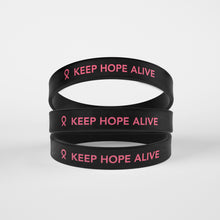 Load image into Gallery viewer, Keep Hope Alive Silicone Bracelet