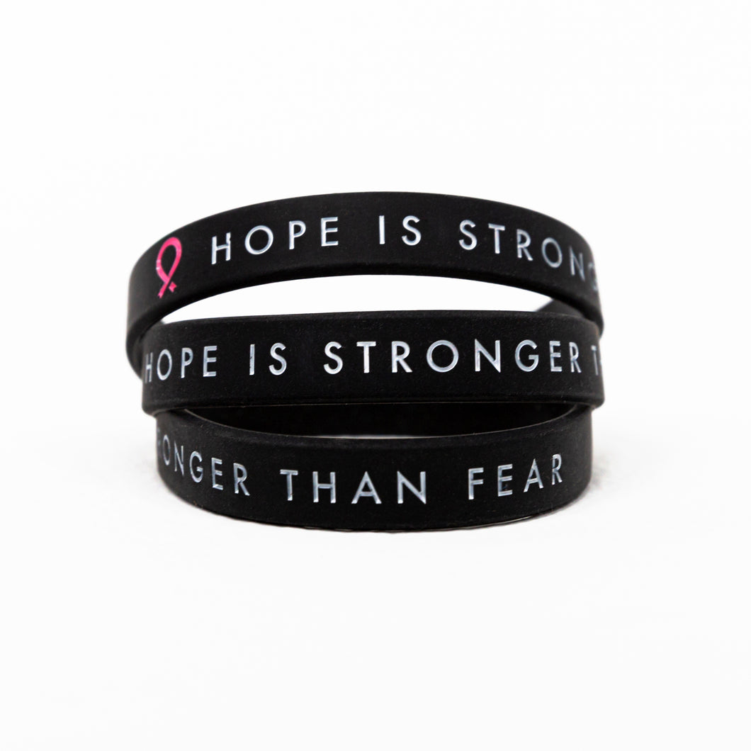 Hope Is Stronger Than Fear Silicone Bracelet
