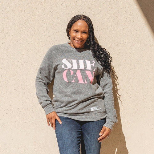 She Can Crewneck Sweatshirt
