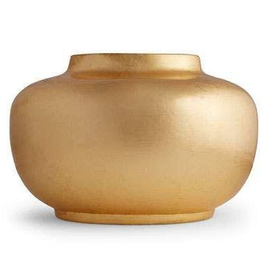 Gold Leaf Oval Vase