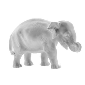 White Porcelain Young Elephant