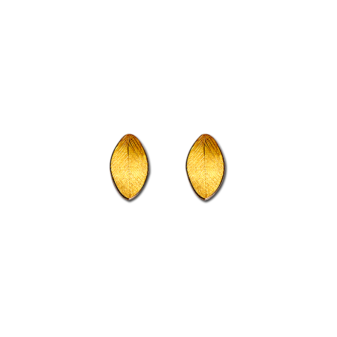Leaf Gold Small Earrings