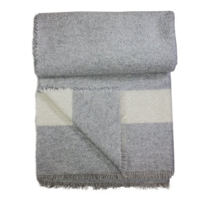 Burcina Grey & Brown Woven Cashmere Throw