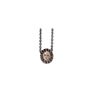 Misha Diamond Oval Small Pendant