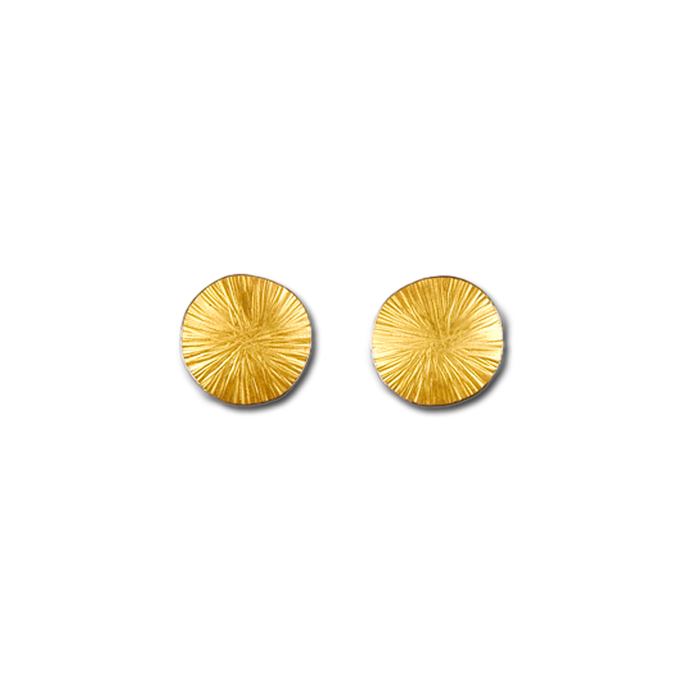 Wheel Medium Gold Stud Earrings