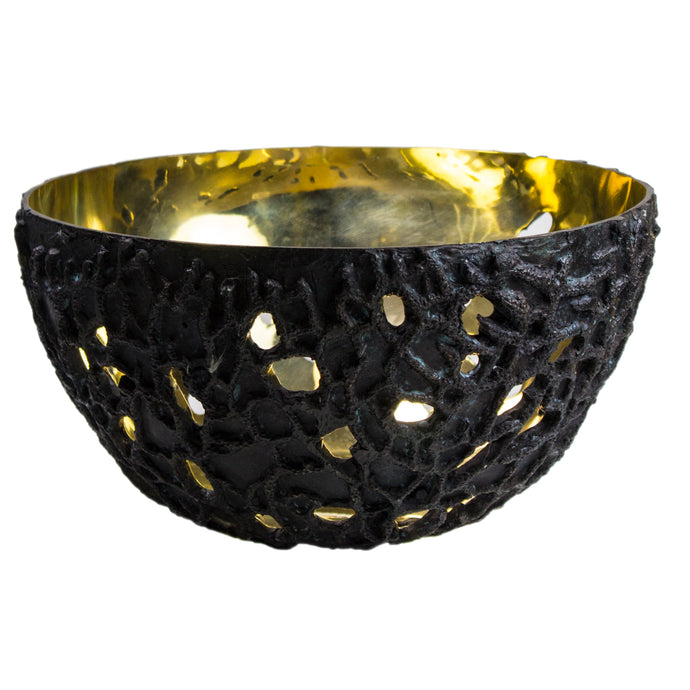 Bronze and Brass Open Bowl