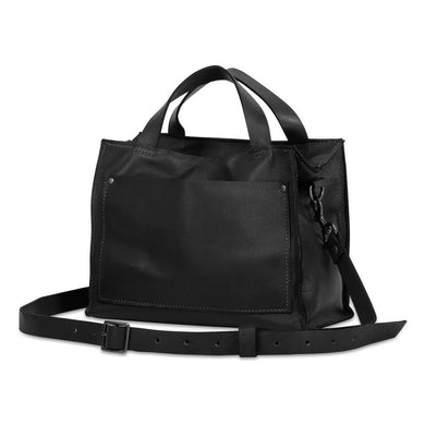 Boxy Black Crossbody Handbag
