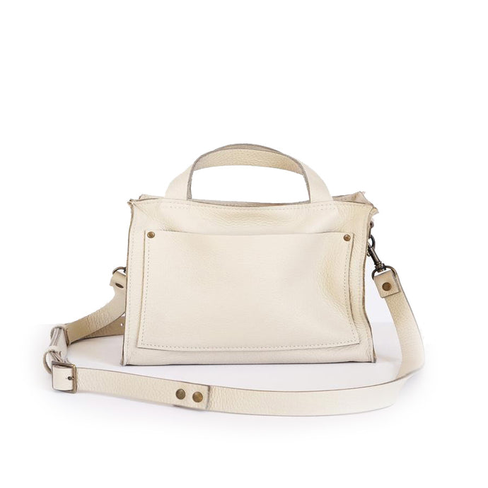 Boxy Cream Crossbody Handbag