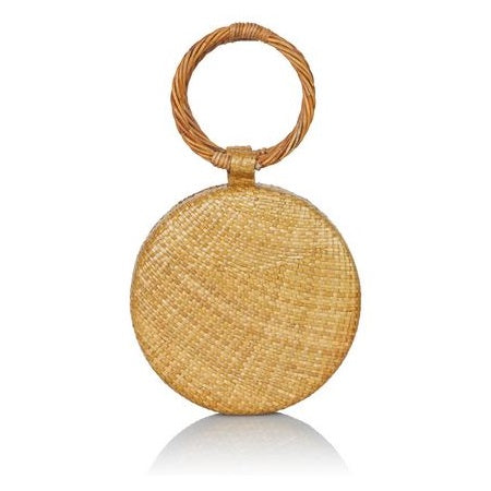 Wicker Natural Serena Circle Bag
