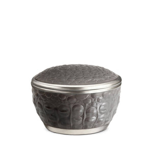 Grey Crocodile Round Porcelain Box