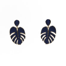 Load image into Gallery viewer, Palmer Navy/Gold Earrings