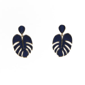 Palmer Navy/Gold Earrings