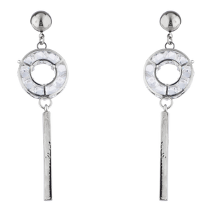 Silver Keep It Down Earrings