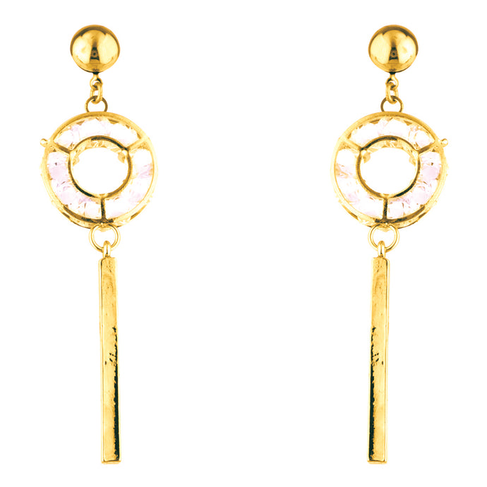Gold Keep It Down Earrings