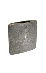 """Antique"" Brown Square Shagreen Vase"