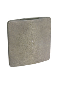 """Antique"" White Square Shagreen Vase"