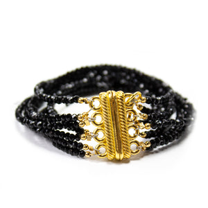 Megan Black Bead Bracelet