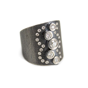 Adelle Diamonds & Oxidized Silver