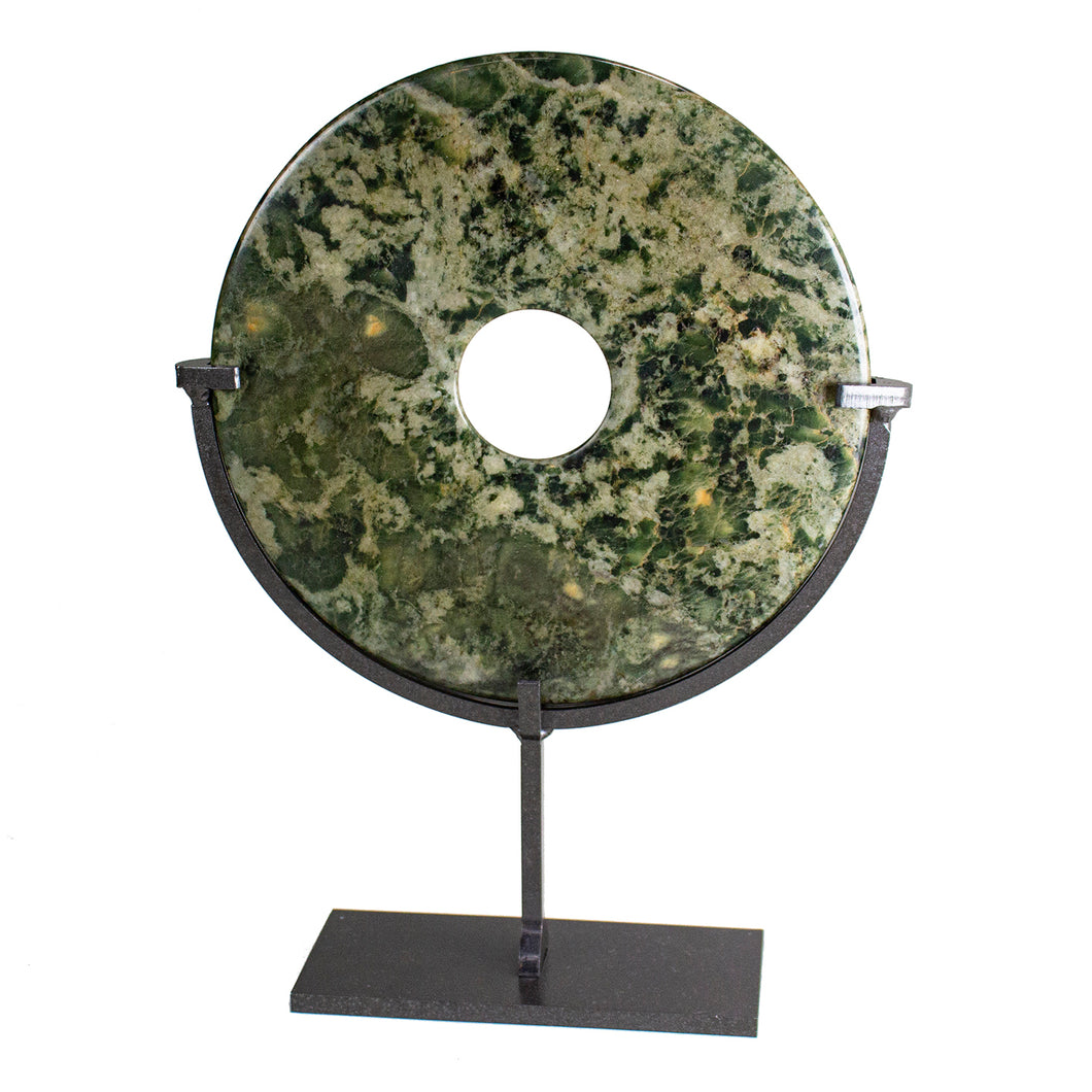 Green Stone Disc Object