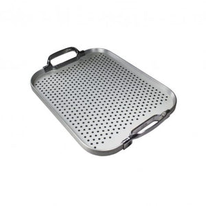 Small Steel Rubber Grip Tray with Polished Handles