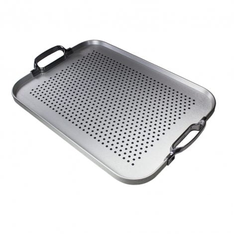 Steel Rubber Grip Tray with Polished Handles