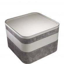 Load image into Gallery viewer, Light Grey Square Calfskin Stacking Tray 4