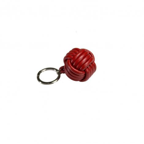 Red Leather Nodo Key Ring