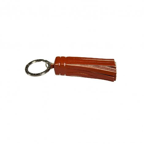 Orange/Ivory Leather Medusa Key Ring