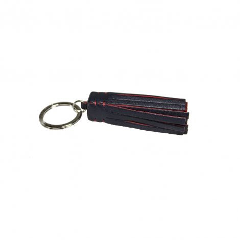 Navy/Red Leather Medusa Key Ring