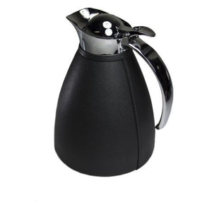 "Black ""Monceau"" Leather Carafe"