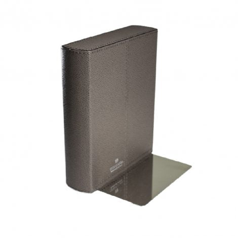 Taupe Leather Bookend