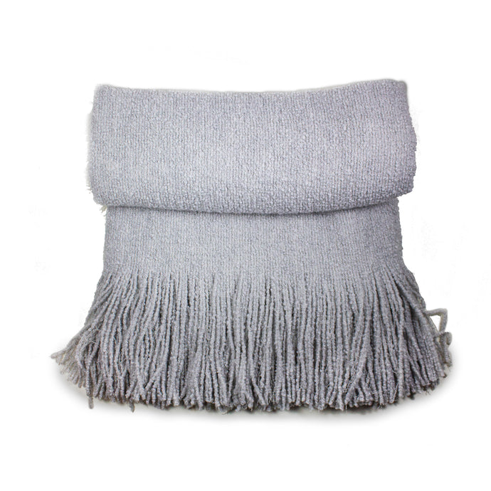 Grey Tally Cashmere Throw