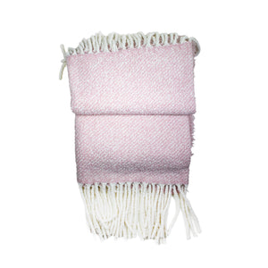 Snoop Pink & White Cashmere Throw